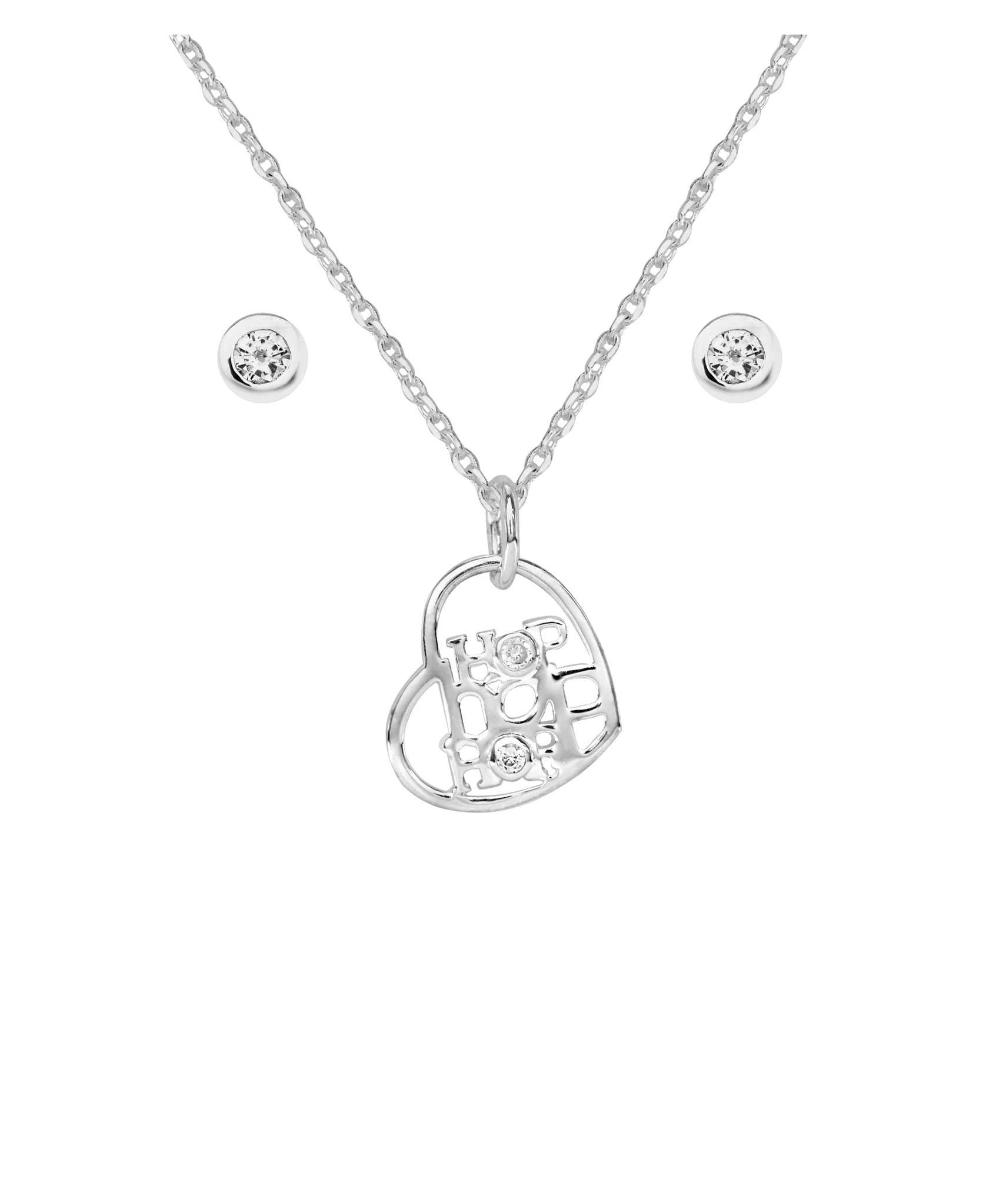 Beatrix Potter Peter Rabbit Hop Pendant and Cubic Zirconia Earring Set - Rhona Sutton Jewellery