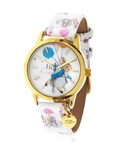 Beatrix Potter Children's Peter Rabbit Steel and Printed Leather Watch - Rhona Sutton Jewellery