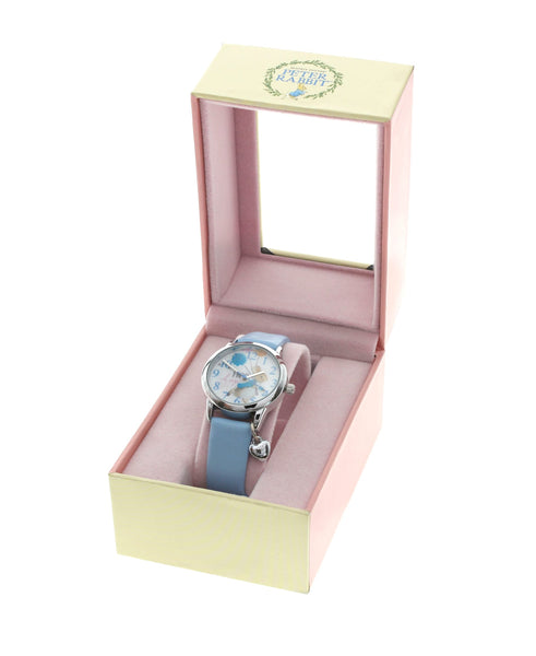 Beatrix Potter Children's Peter Rabbit Steel and Blue Leather Watch - Rhona Sutton Jewellery
