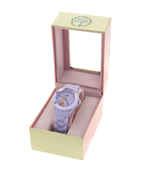 Beatrix Potter Children's Flopsy Bunny Time Teacher Silicone Strap Watch - Rhona Sutton Jewellery