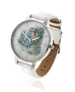 Beatrix Potter Ladies Peter Rabbit Steel and Leather Watch - Rhona Sutton Jewellery