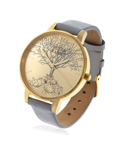 Beatrix Potter Ladies Bunnies Family Tree Steel and Leather Watch - Rhona Sutton Jewellery