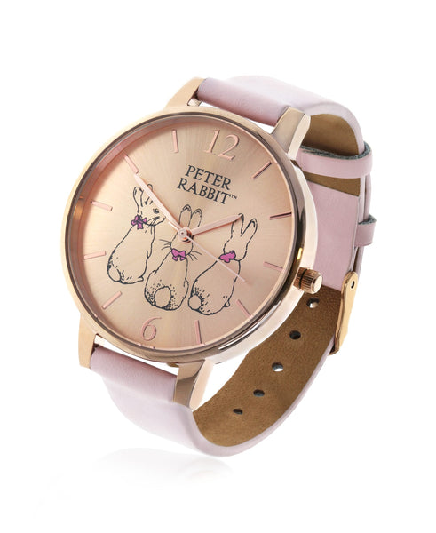 Beatrix Potter Ladies Three Bunnies Steel and Leather Watch - Rhona Sutton Jewellery