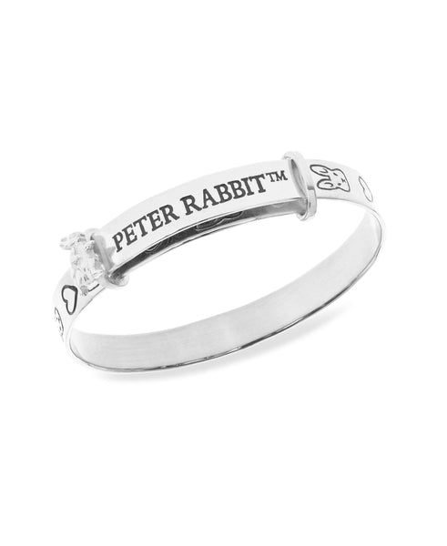 Beatrix Potter Sterling Silver Peter Rabbit Expander Bangle Bracelet - Rhona Sutton Jewellery