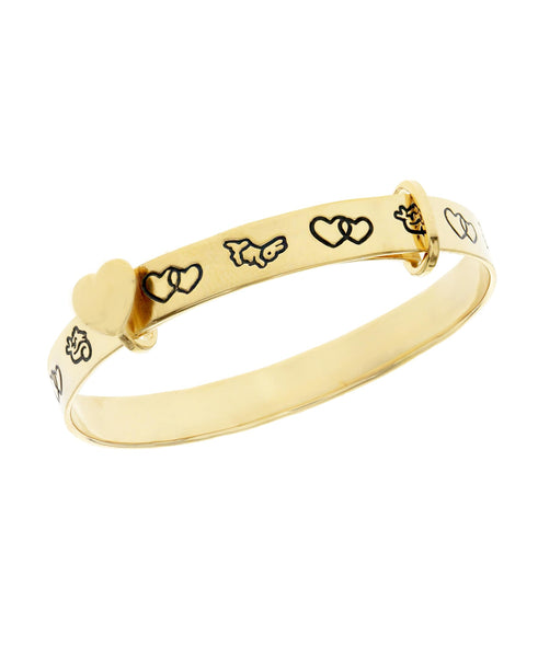 Beatrix Potter Gold Plated Sterling Silver Expander Bangle Bracelet - Rhona Sutton Jewellery