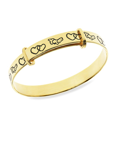 Beatrix Potter Gold Plated Sterling Silver Peter Rabbit Expander Bangle Bracelet - Rhona Sutton Jewellery