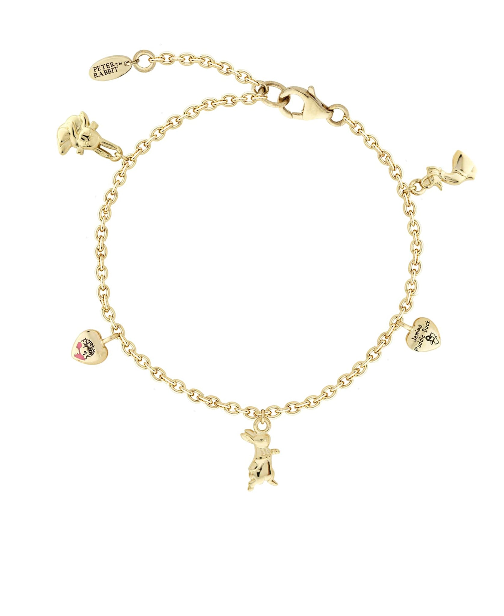 Beatrix Potter Gold Plated Sterling Silver Charm Bracelet - Rhona Sutton Jewellery