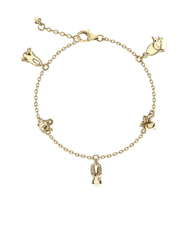 Beatrix Potter Gold Plated Sterling Silver Peter Rabbit Charm Bracelet - Rhona Sutton Jewellery
