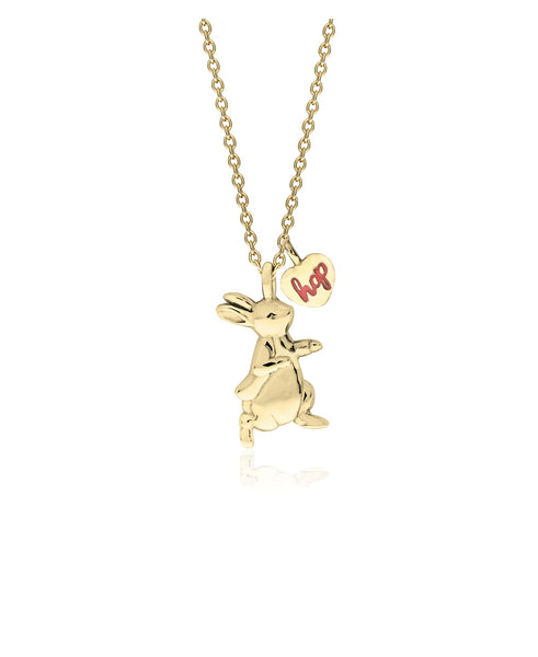 Beatrix Potter Sterling Silver Peter Rabbit Pendant Necklace with Charm - Rhona Sutton Jewellery