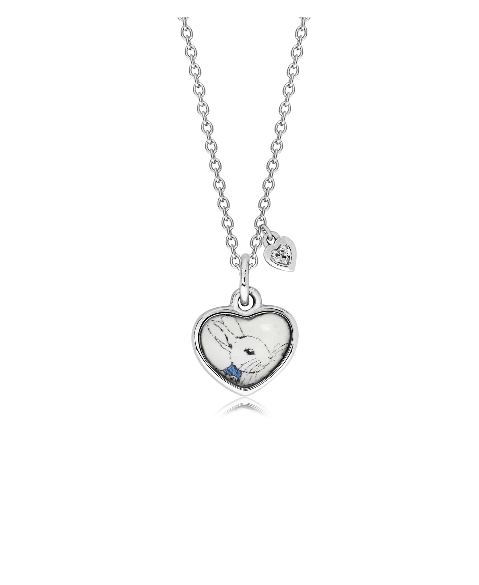 Sterling Silver Rhodium-plated Childs Bunny Pendant