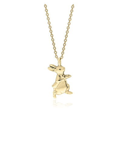 Beatrix Potter Gold Plated Sterling Silver Peter Rabbit Pendant Necklace - Rhona Sutton Jewellery