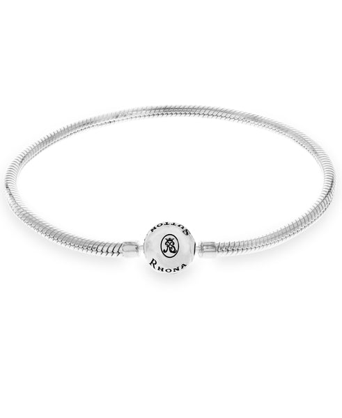 Snake Chain Charm Bracelet in Sterling Silver (3 colors) - Rhona Sutton Jewellery