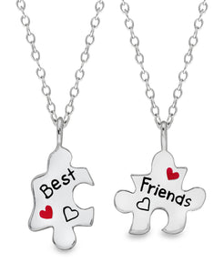 Children's Sterling Silver Puzzle Pieces Best Friends Necklace Set - Rhona Sutton Jewellery