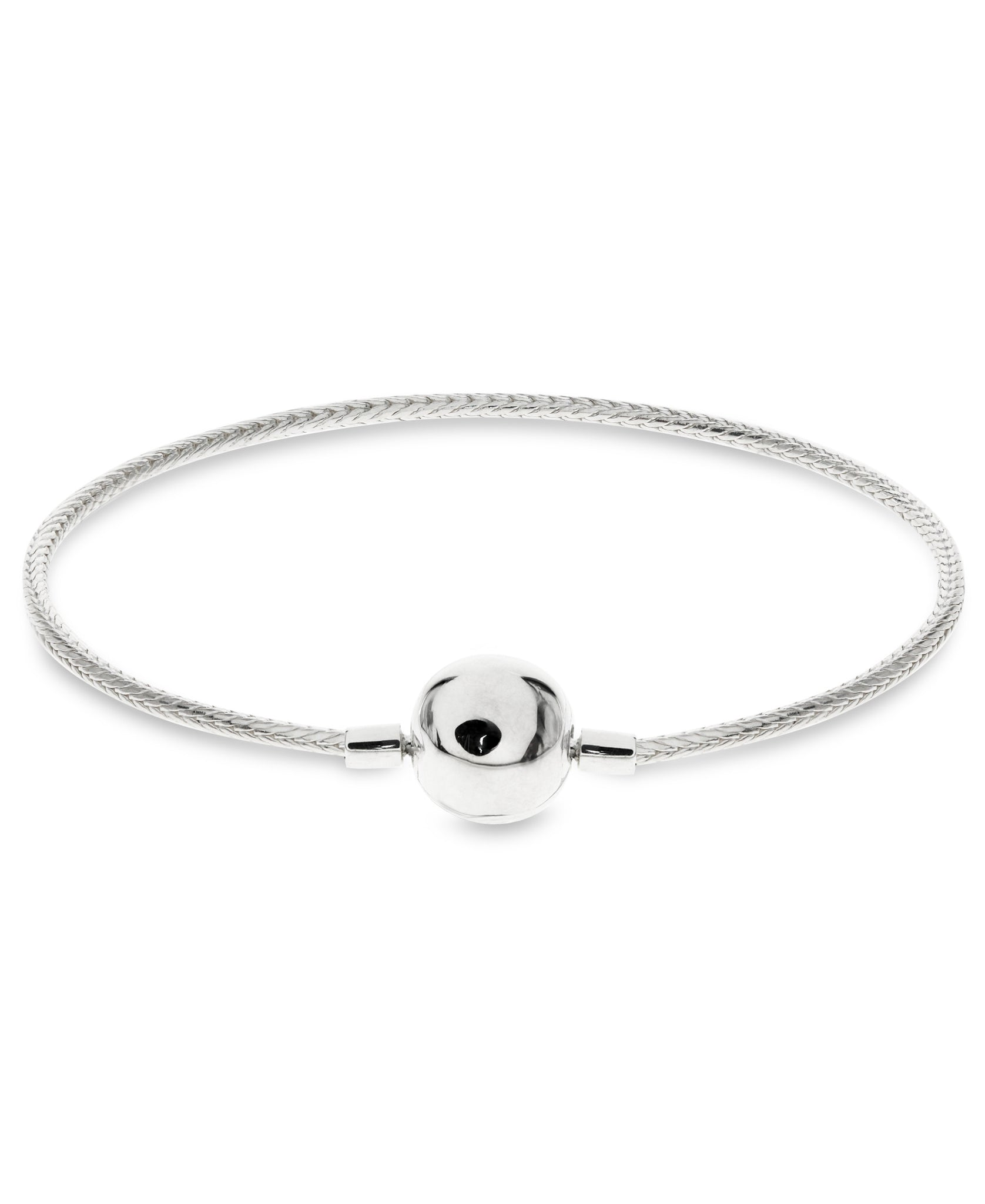 Children's Sterling Silver Snake Chain Charm Carrier Bracelet - Rhona Sutton Jewellery