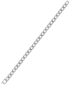 Rhona Sutton Plated Sterling Silver Crystal Curb Link Chain Bracelet - Rhona Sutton Jewellery
