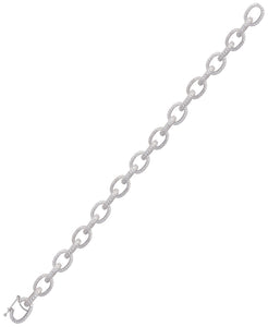 Rhona Sutton Plated Sterling Silver Crystal Cable Chain Bracelet - Rhona Sutton Jewellery