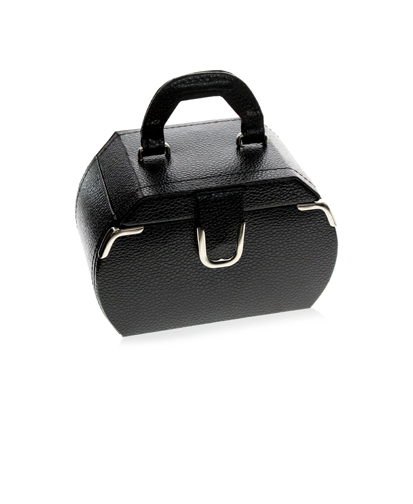 Black Miniature Rounded Jewelry Case - Rhona Sutton Jewellery
