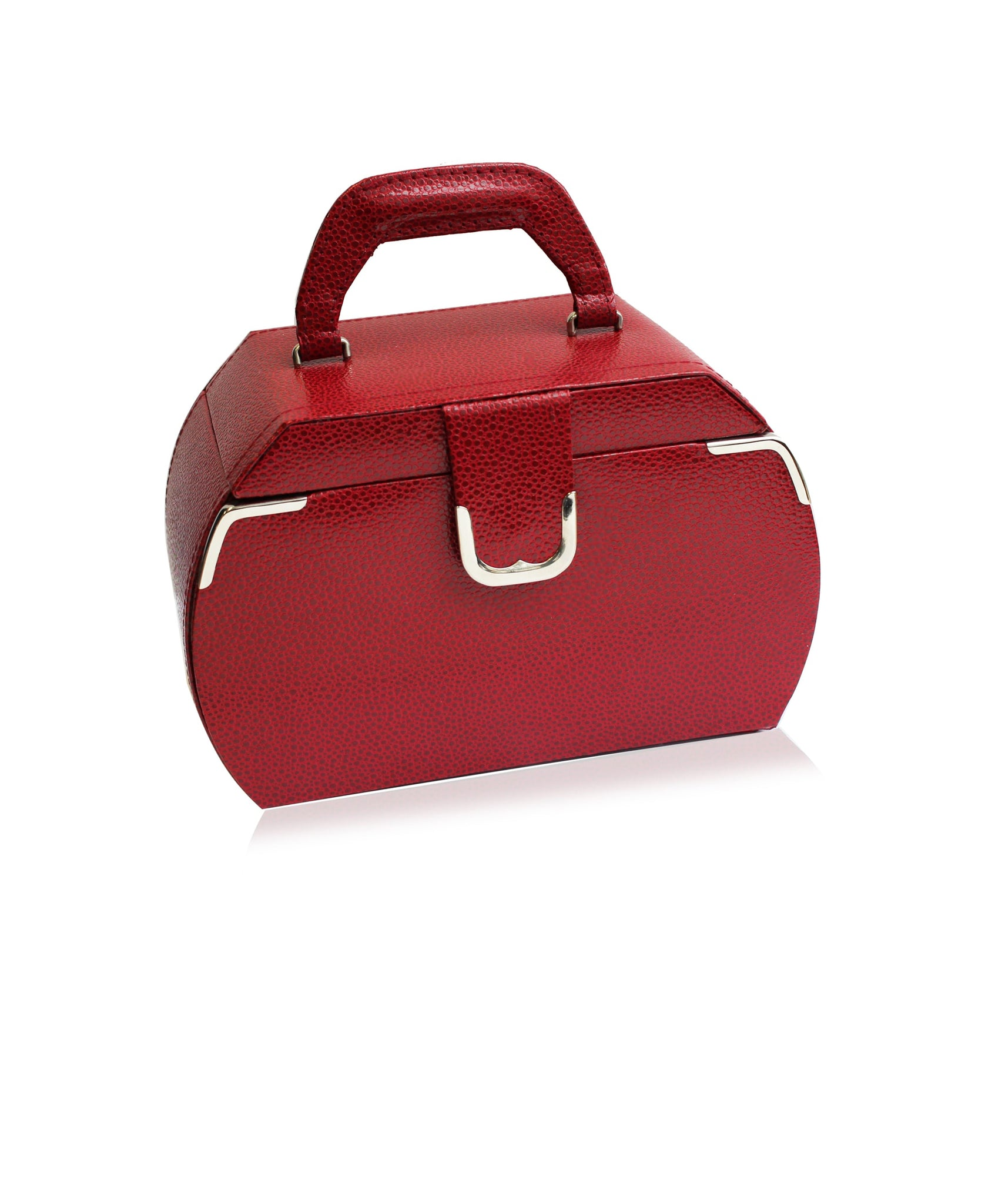 Red Medium Rounded Jewelry Case - Rhona Sutton Jewellery