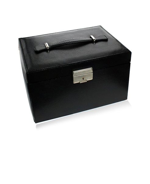 Black Large 3-Drawer Jewelry Case - Rhona Sutton Jewellery