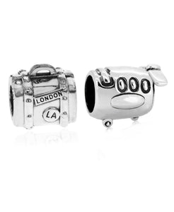 2-Pc. Set Jetsetter Bead Charms in Sterling Silver - Rhona Sutton Jewellery