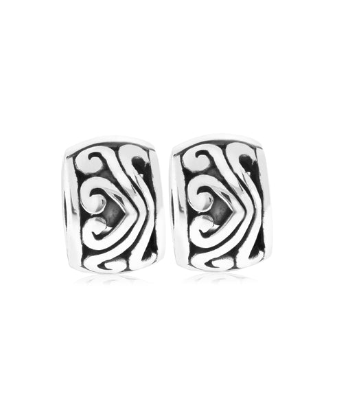 2-Pc. Set Sterling Silver Filigree Stopper Bead Charms (3 colors) - Rhona Sutton Jewellery