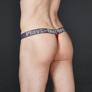 Red Low Rise Pouch Thong