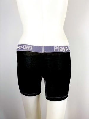 Play Out Apparel Midi Boxer Brief Black back