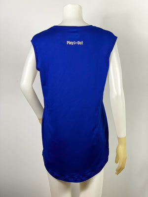 Play Out Apparel Muscle T Royal Blue back