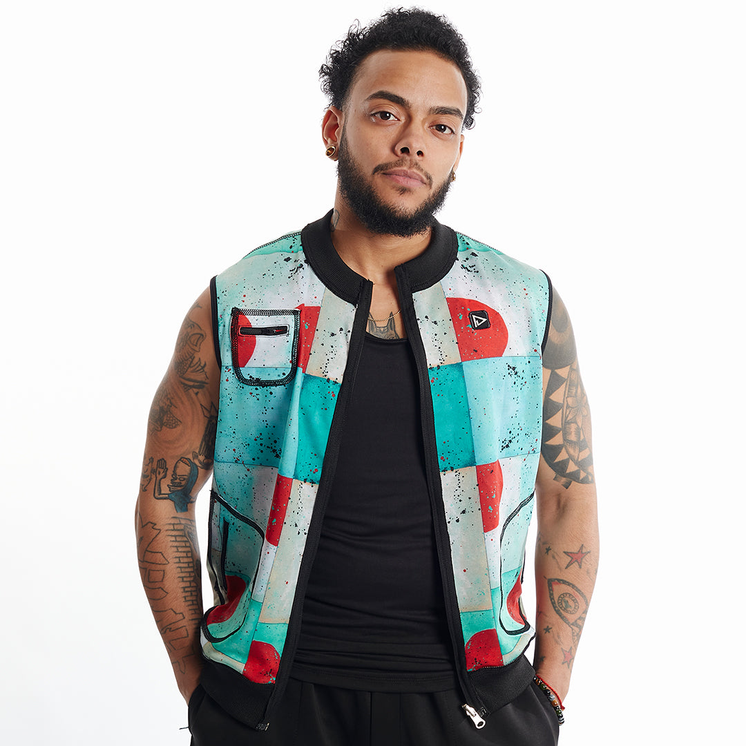 Play Out Apparel Major Lilo Print reversible vest Unisex XS-5X