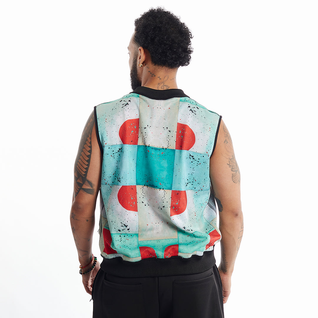 Major Reversible vest in Lilo Print Unisex XS-5X