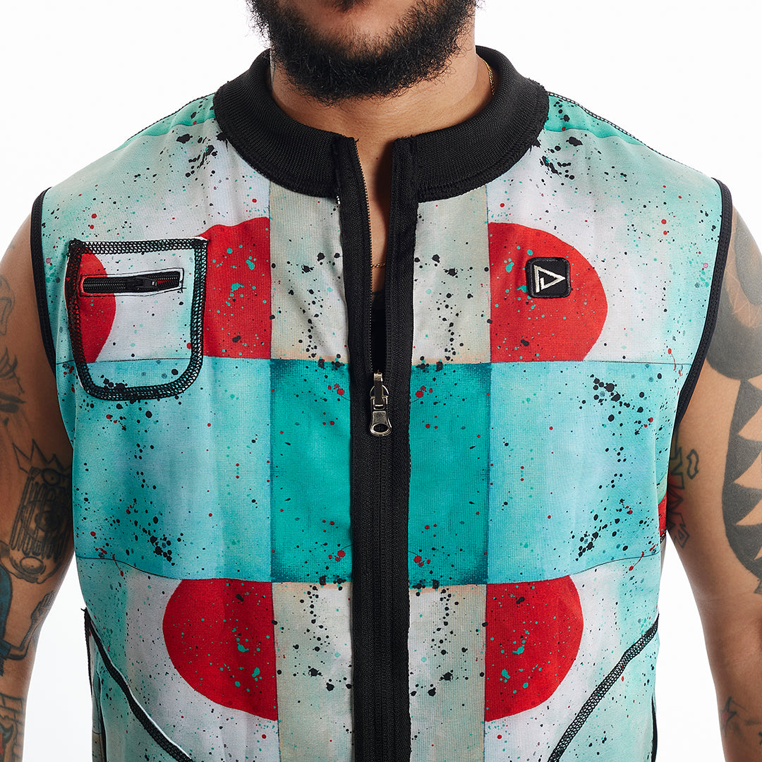 Lilo Print Close Up Major Reversible vest Unisex XS-5X