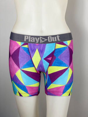 Play Out Apparel Midi Boxer Brief Geo Multi Print front