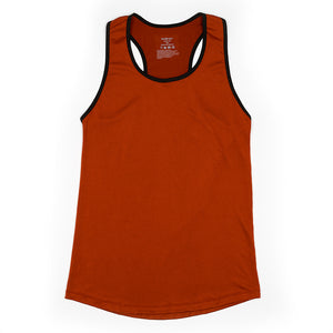 Play Out Apparel Copper Racer Back Tank flat