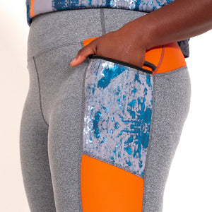 Flat Front Leggings - Stormy Gray