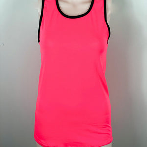 Play Out Apparel Pink Racer Back Tank Front