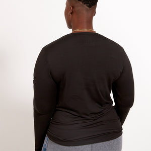Play Out Apparel Ultra Soft Long Sleeve Black Shirt XS-5X Back