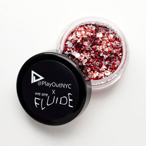 "Play Out Apparel x Fluide Limited Edition Body Glitter ""Flame"""
