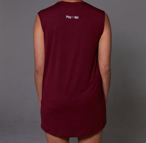 Burgundy Muscle T