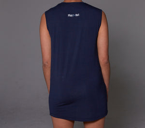 Play Out Apparel Navy Muscle T Shirt XS-5X