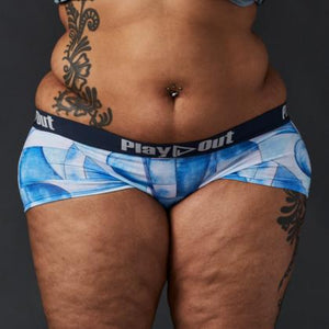 Geo Denim Low Rise Boxer Brief