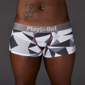 233778986e85 Geo Gray Low Rise Boxer Brief - Gender Free Underwear - Play Out - Play Out  Underwear