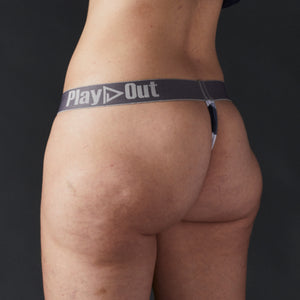 Geo Gray Low Rise Thong