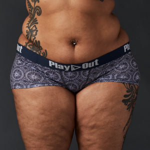 Kaleidoscope Boxer Brief by Pauline Curtiss *Original Waistband* - Extended Sizes