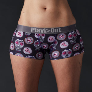 Skulls Boxer Brief by Pauline Curtiss