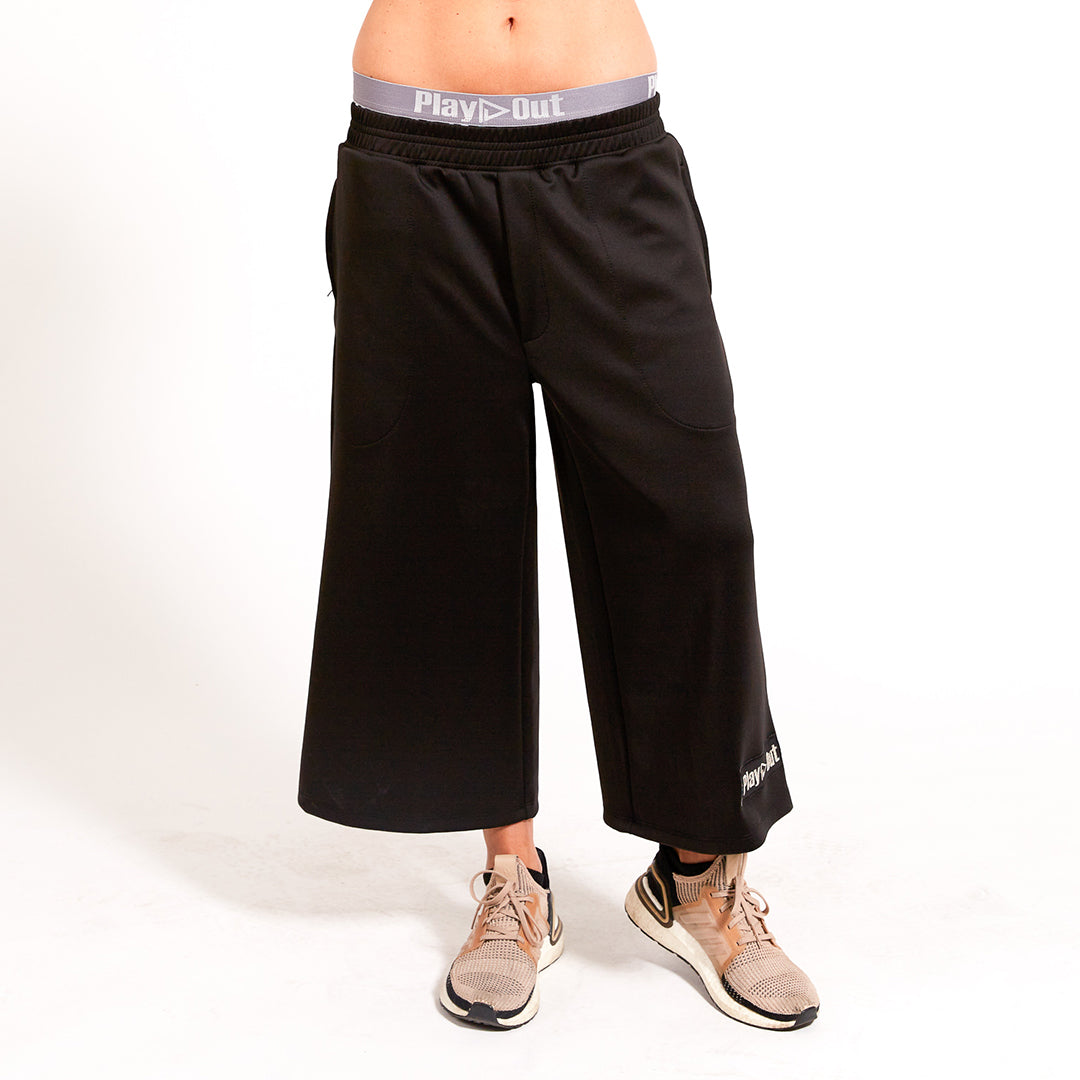 Play Out Apparel Reed Pants Front Slouched Black Silver XS-5X