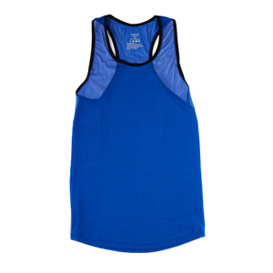 Play Out Apparel Royal Blue Unisex Mesh Racer Back Tank Shirt