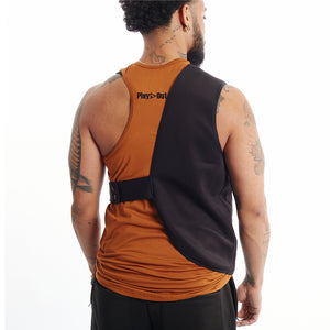 Urban Holster Back Unisex XS-5X Bronze Tank top
