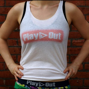 Play Out Vintage Logo Tank