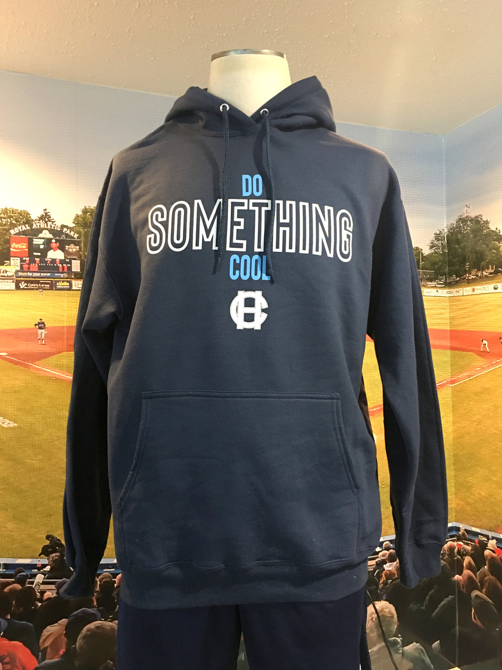 "Navy Unisex Hoodie - ""Do Something Cool"""