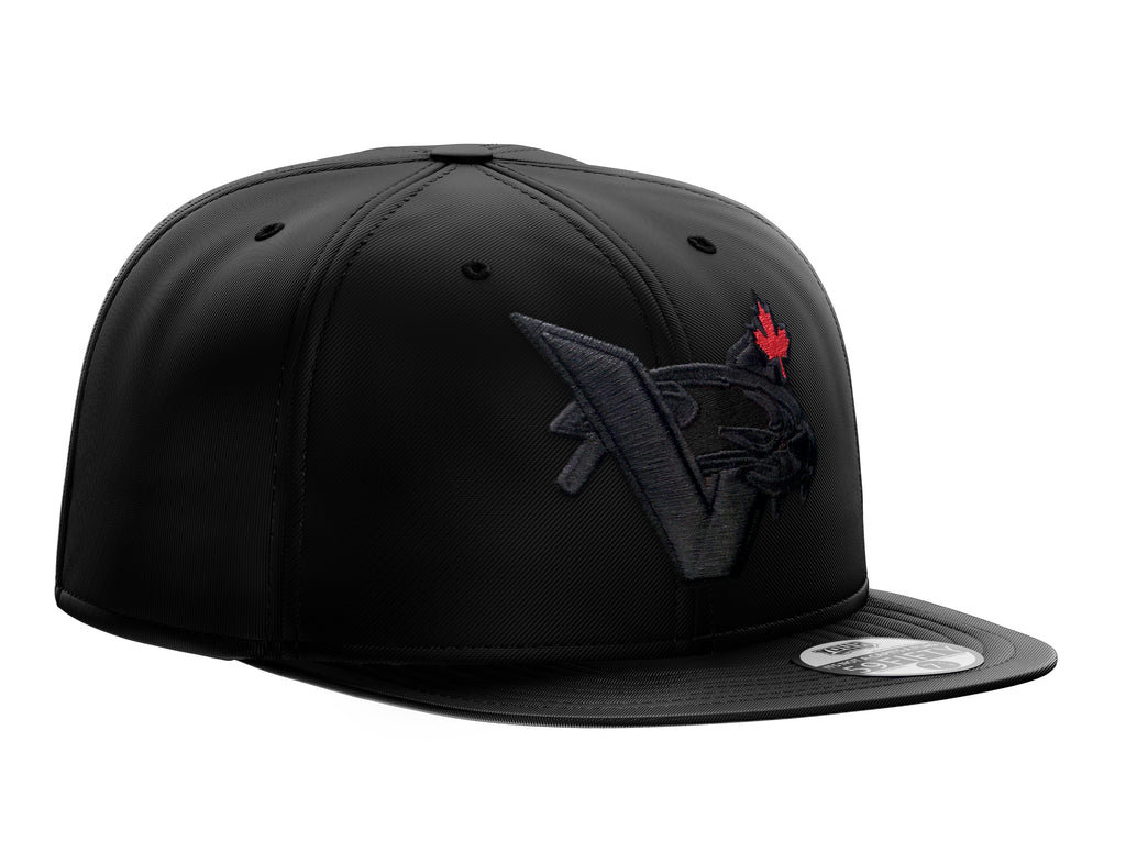 New Era Blackout VCAT MAPLE LEAF SNAPBACK